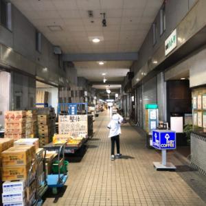 市場の奥深さを感じます  笠間食堂  大田市場にて