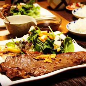 我が家のゲストが多い時の夕食『和牛サーロインステーキ』 料理研究家 指宿さゆり