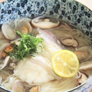 上品であっさりとした出汁!アサリと鯛のにゅうめん。 料理研究家 指宿さゆり