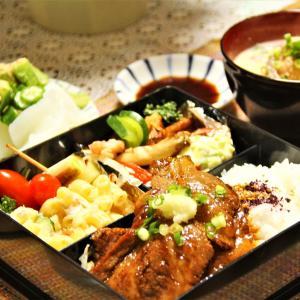 『和牛サーロインステーキの夕食弁当。メインサイド色々』料理研究家 指宿さゆり