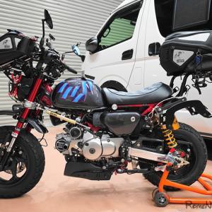 ☆ 202010 ガレージライフ モンキー125 仕上げのスッテカー ヘルメットコレクション ☆