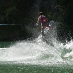 ウェイクボード世界選手権in池田湖