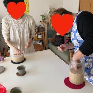 今月から手作り味噌教室がスタート。