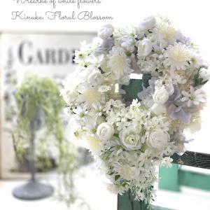 旅するように花を楽しむ♪プリフラ掲載「白い花たちのリース」&認定校の先生受賞おめでとう