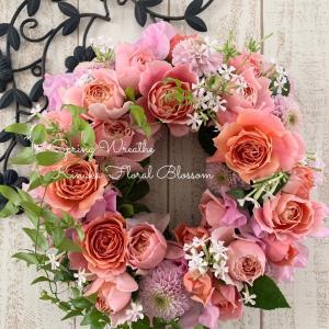 Wreathで彩る12か月コース・基礎クラス「早春の薫りが広がる優美なテーブルリース」
