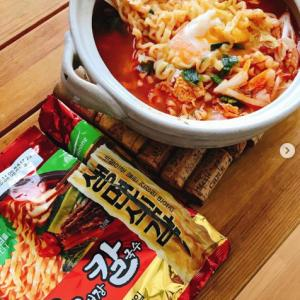 韓国インスタントラーメンじゃなくて、インスタントうどん~お昼ごはん♪