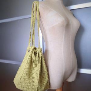 夏のバッグ編めました