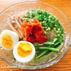 手軽に作れる韓国冷麺の季節ですね♪