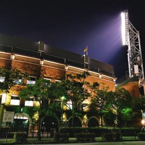 夜の甲子園球場