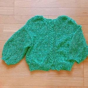 テテ色のサマーセーター編めました~ハンドメイド編み物♪