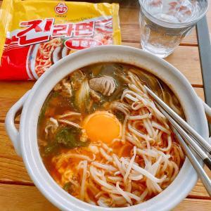 btsジンおすすめの韓国ラーメン
