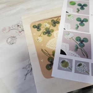 白つめ草のデザインパケット作りました✨