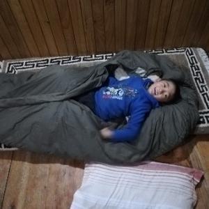 今年も来た 自宅で寝袋ブーム
