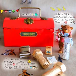 KALDIのTOOL BOX缶のチョコレート&お籠りぽっちゃん。