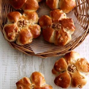 中種法でくるみパン