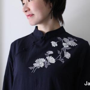 菊花刺繍のチャイナワンピースと最近買った本!