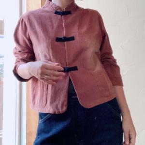 【ニュアンスカラーのチャイナジャケット】新商品ご紹介。