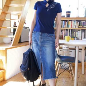 【刺繍チャイナTシャツ】カジュアルチャイナなカットソー。