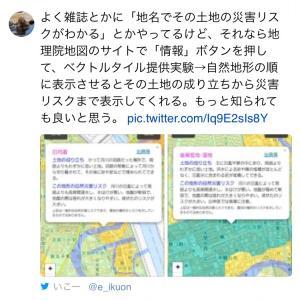 国土地理院地図も検索入り。