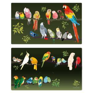 鳥さんいっぱいのマスクケース 2種