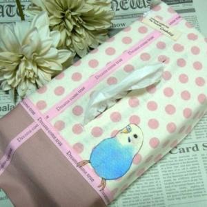 セキセイインコ ピンクのティッシュBOXケース