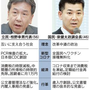 枝野氏に敢えていう。みみっちい低所得者の消費税月額1万円では負ける。幻滅!!!!