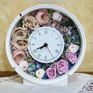 シャビーなグラデーション花時計