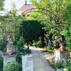 お庭のあるカフェっていいよね。