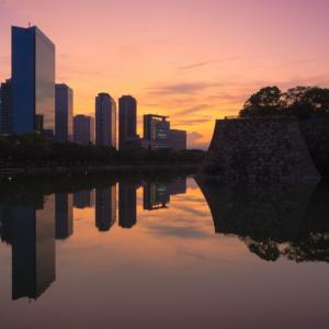 夜明けを待つ大阪ビジネスパーク