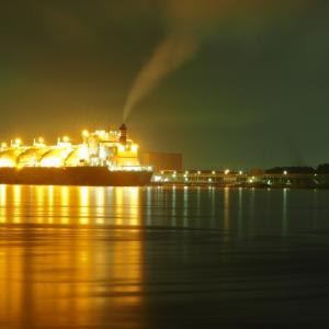 LNG TANKER DREAM を夜景撮影