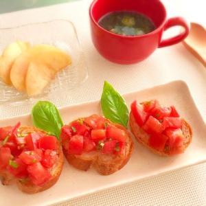 自家栽培のバジルを使ってトマトのカナッペ~Sunday Brunch~