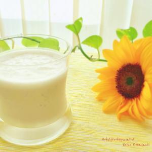 夏もきな粉豆乳バナナスムージー