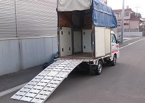 ジャイロXなどの三輪バイク陸送もお任せください…赤帽札幌シェルパ