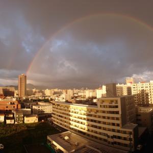 朝、虹が見えた…赤帽札幌シェルパ