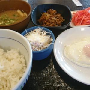 なか卯の牛小鉢目玉焼き朝定食が20円値下げ…赤帽札幌シェルパ