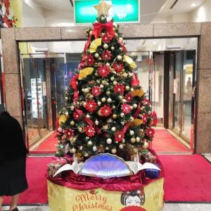 エントランスにクリスマスツリーを置く