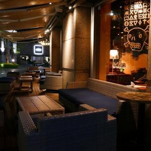 恵比寿  テラスのあるカフェ アレヴェリーテラスエビスで夜カフェ