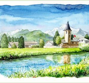 ◆ スイス・シルス村にて ◆