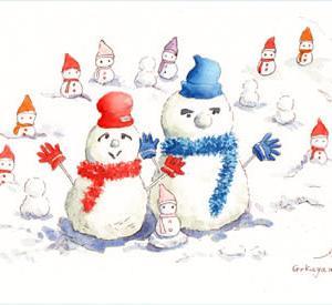 ◆ 五箇山の雪だるま ◆