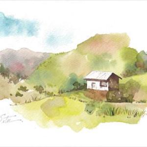 ◆ 小屋と筑波山 ◆