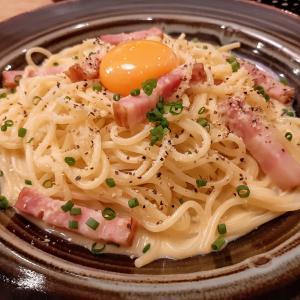 ツイッター当選★鎌倉パスタ 厚切りベーコンのカルボナーラ鎌倉風