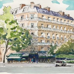 パリの有名なカフェ (その11;レ・ドゥー・マゴ )
