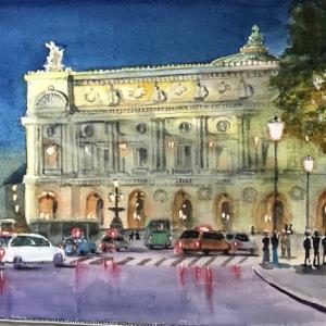 夜のオペラ座(パリ)
