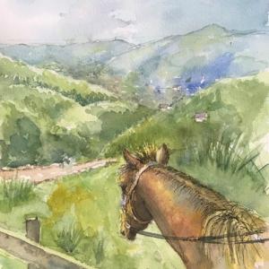 乗馬 (l'équitation.)