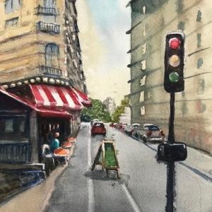ラマルクのカフェ (Café sur Lamarck)