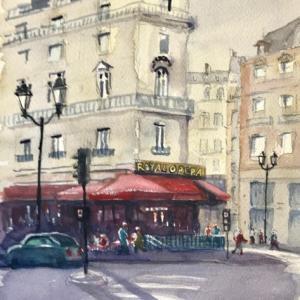 パリのカフェ(その4:Royal Opera )