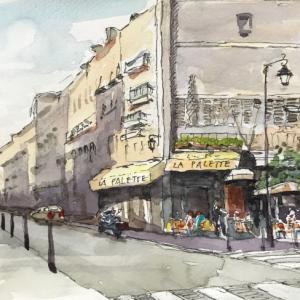 パリのカフェ (その7::La Palette)