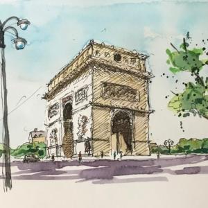 パリの凱旋門 (L'Arc de Triomphe)