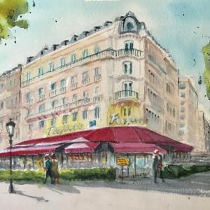 パリのカフェ (その9: ル・フーケッツ)