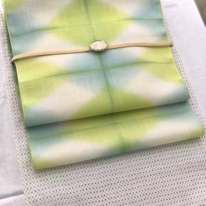 桐生絞りの帯